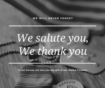 Black and White Soldier Memorial Day Wishes Facebook Post-1
