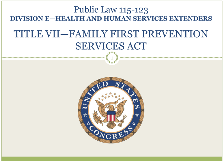 Family First Prevention Services Act