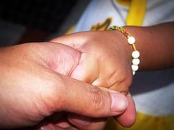 hospice hand holding