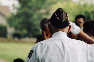 veteran's Memorial Day salute